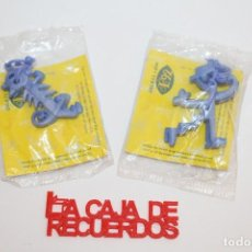 Figuras de Goma y PVC: EXPO 92 PENDIENTES MARISCAL PROMOCION RUFLES DE MATUTANO 2 MODELOS DIFERENTES. Lote 295974003