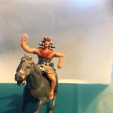 Figuras de Goma y PVC: ESTEREOPLAST COLECCIÓN JABATO FIGURA EGIPCIO AÑOS 60 CON CABALLO ORIGINAL. Lote 296590223