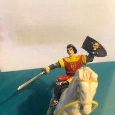 Figuras de Goma y PVC: ESTEREOPLAST FIGURA CAPITÁN TRUENO CON CABALLO AÑOS 60 ORIGINAL. Lote 296596218