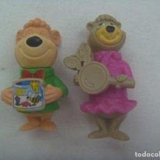 Figuras Kinder: LOTE DE 2 FIGURAS DE KINDER : OSITOS DE EL OSO YOGUI. Lote 296899858