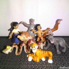 Figuras de Goma y PVC: FIGURAS PVC EL LIBRO DE LA SELVA( JUNGLE BOOK) DE BULLY ( MOWGLI KA SHERE KHAN BALOO REY LOUIE HATHI. Lote 296966508