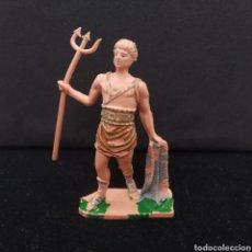 Figuras de Goma y PVC: ANTIGUO GLADIADOR ROMANO DE PLÁSTICO PINTADO A MANO DE OLIVER PECH HERMANOS. Lote 297107223