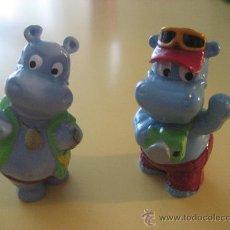 Figuras Kinder: FIGURAS KINDER SORPRESA : HIPOPOTAMOS DE VACACIONES (AÑO 1992). Lote 26391499