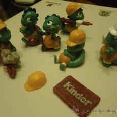 Figuras Kinder: LOTE 6 FIGURAS KINDER COCODRILOS. Lote 34283007