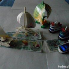 Figuras Kinder: KINDER SORPRESA BARCOS CATAMARANES OVERCRAFTS. Lote 96097663