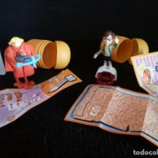 Figuras Kinder: FIGURA MUÑECO KINDER LOS MINNIONS 2 HUEVOS COMPLETOS. Lote 103801759