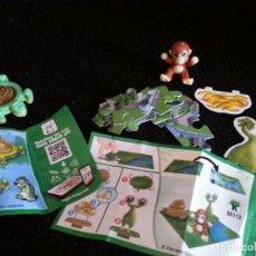 Figuras Kinder: FIGURA MUÑECO KINDER SORPRESA 2 HUEVOS COMPLETOS. Lote 103801919