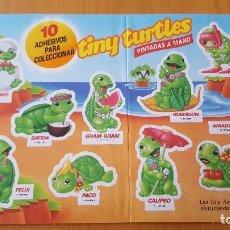 Figuras Kinder: PEGATINAS MUY DIFÍCILES DE CONSEGUIR TINY TURTLES KINDER FIGURAS TORTUGAS - NO CROPAN -. Lote 105330931