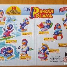 Figuras Kinder: PEGATINAS MUY DIFÍCILES DE CONSEGUIR PINGÜI PLAYA FIGURAS PINGÜINOS - NO CROPAN -. Lote 105331123