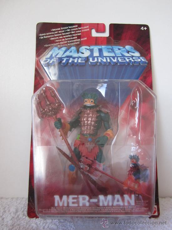 MER-MAN DE MASTERS DEL UNIVERSO MASTERS OF THE UNIVERSE MATTEL. . (Juguetes - Figuras de Acción - Master del Universo)