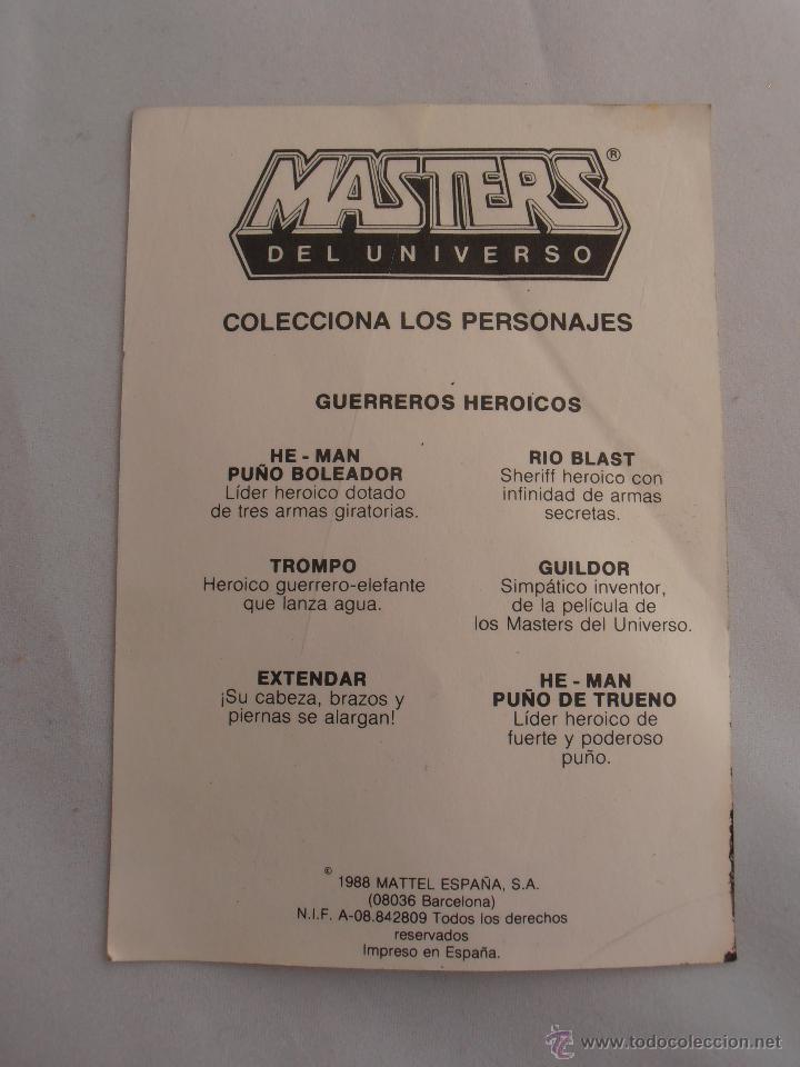 Figuras Masters del Universo: PEGATINA HEMAN PUÑO BOLEADOR MASTERS DEL UNIVERSO MOTU MATTEL 1988 HE-MAN - Foto 2 - 44925794