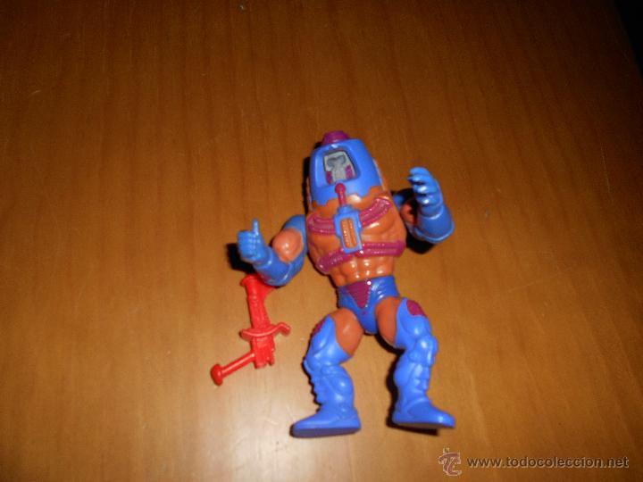 MUÑECO MAN - E- FACES DE HE- MAN MASTERS DEL UNIVERSO ORIGINAL DE MATTEL AÑOS 80 B.E. TAIWAN (Juguetes - Figuras de Acción - Master del Universo)
