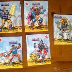 Figuras Masters del Universo: FANTASTICO LOTE DE 5 INCREIBLES PEGATINAS FACSIMIL MASTERS UNIVERSO HE MAN MATTEL. Lote 248980350