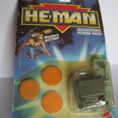 Figuras Masters del Universo: ACCESORIO HE MAN ROCKETDISC POWER PACK, EN BLISTER. CC. Lote 52645378