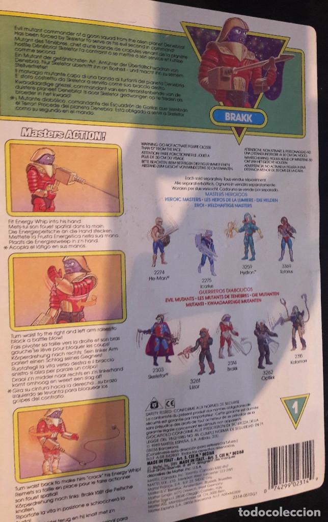 Figuras Masters del Universo: MASTERS DEL UNIVERSO COLECCION HE-MAN BRAKK MOTU ORIGINAL AÑO 1990 - Foto 3 - 71104329