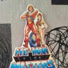 Figuras Masters del Universo: ANTIGUA PEGATINA HE-MAN MASTERS DEL UNIVERSO VIDEOCLUB VINTAGE AÑOS 80. Lote 95689199