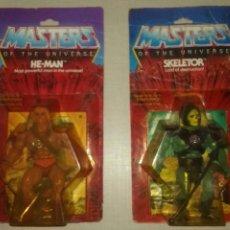 Figuras Masters del Universo: LOTE BLISTERS HEMAN Y SKELETOR MOTU. Lote 98715251