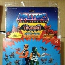 Figuras Masters del Universo: LOTE CAJA MASTERS UNIVERSO VINTAGE MULTIBOT EDICION ESPAÑOLA MULTI-BOT AÑOS 80 ORIGINAL MATTEL MOTU. Lote 106969415