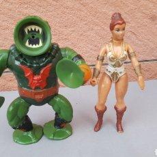 Figuras Masters del Universo: LEECH MEXICO PERFECTO + TEELA. Lote 118589791