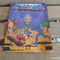 Figuras Masters del Universo: MINI CATALOGO COMIC,JUGUETES MASTERS DEL UNIVERSO EL CIRCULO DE LA MUERTE 1986. Lote 120319295