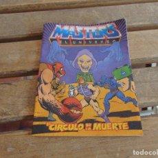 Figuras Masters del Universo: MINI CATALOGO COMIC,JUGUETES MASTERS DEL UNIVERSO EL CIRCULO DE LA MUERTE 1986. Lote 120319323