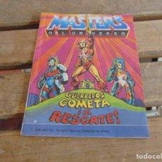 Figuras Masters del Universo: MINI CATALOGO COMIC,JUGUETES MASTERS DEL UNIVERSO GUERREROS COMETA AL RESCATE 1986. Lote 120319419