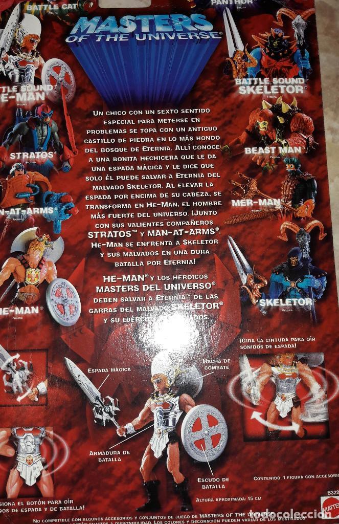 Figuras Masters del Universo: HE-MAN BATTLE SOUND MASTERS DEL UNIVERSO CON SONIDO PELICULA VHS EL MUNDO DE HE-MAN INSTRUCCIONES - Foto 5 - 123056931