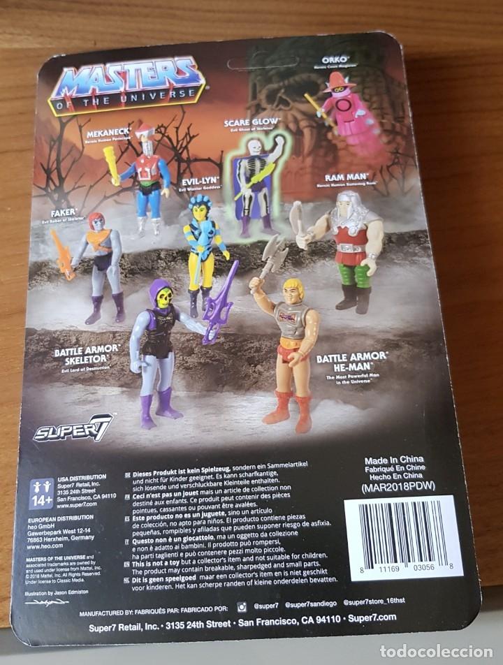 Figuras Masters del Universo: FAKER MASTERS DEL UNIVERSO MOTU REACTION SUPER 7 SUPER7 EN BLISTER NEW - Foto 2 - 131417714