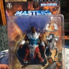 Figuras Masters del Universo: BLISTER PRECINTADO MASTERS UNIVERSE UNIVERSO IMPRESIONANTE CLAMP CHAMP MOTU HE MAN SKELETOR. Lote 173679035