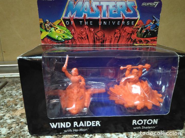 MASTER OF THE UNIVERSE SUPER 7 (WIND RAIDER WITH HE -MAN) (ROTON WITH SKELETOR) (Juguetes - Figuras de Acción - Master del Universo)