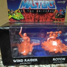 Figuras Masters del Universo: MASTER OF THE UNIVERSE SUPER 7 (WIND RAIDER WITH HE -MAN) (ROTON WITH SKELETOR). Lote 142254794