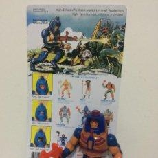 Figuras Masters del Universo: MASTERS UNIVERSO MAN-E-FACES MADE IN FRANCIA + PISTOLA+CARTA FACSIMIL AÑOS 80 MATTEL MOTU VINTAGE. Lote 143547190