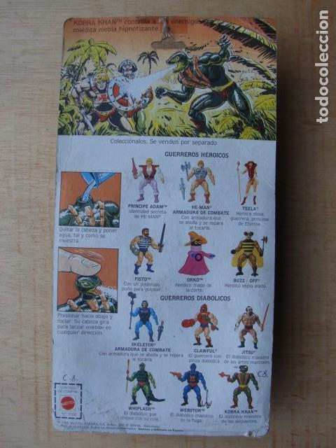 Figuras Masters del Universo: KOBRA KHAN EN BLISTER - MASTERS DEL UNIVERSO - MATTEL - Foto 3 - 145486810