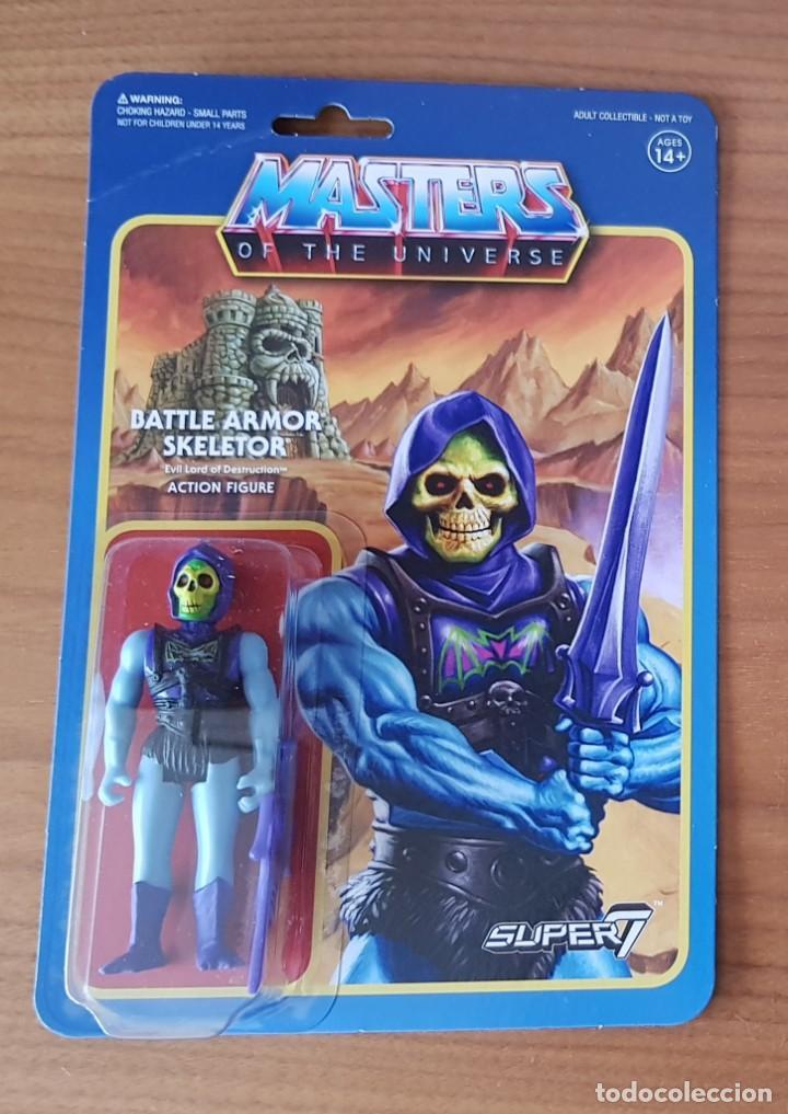 BATTLE ARMOR DAMAGED SKELETOR BLISTER REACTION WAVE 4 SUPER7 HE-MAN MOTU NEW (Juguetes - Figuras de Acción - Master del Universo)