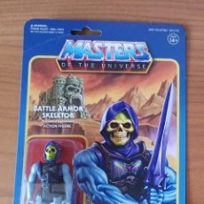 Figuras Masters del Universo: BATTLE ARMOR DAMAGED SKELETOR BLISTER REACTION WAVE 4 SUPER7 HE-MAN MOTU NEW. Lote 148457838