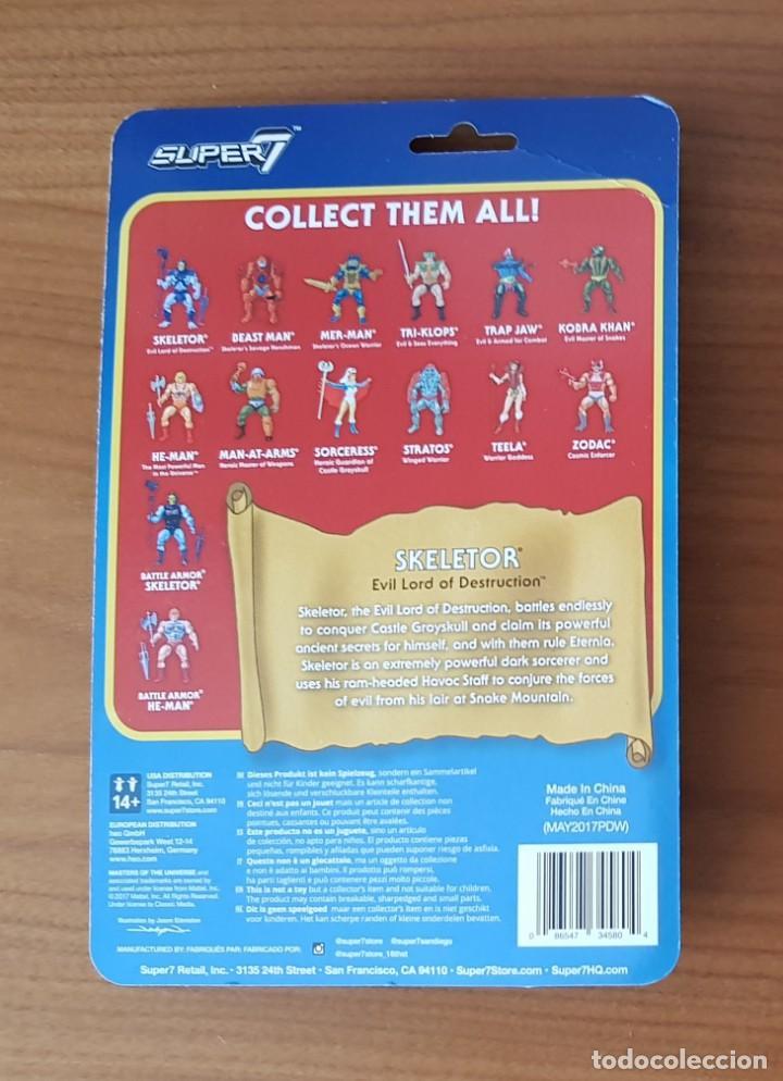 Figuras Masters del Universo: BATTLE ARMOR DAMAGED SKELETOR BLISTER REACTION WAVE 4 SUPER7 HE-MAN MOTU NEW - Foto 2 - 148457838