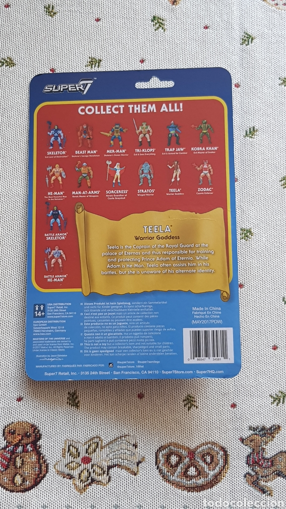 Figuras Masters del Universo: TEELA REACTION WAVE3 SUPER7 NEW MASTERS DEL UNIVERSO HE-MAN MOTU - Foto 2 - 149478642