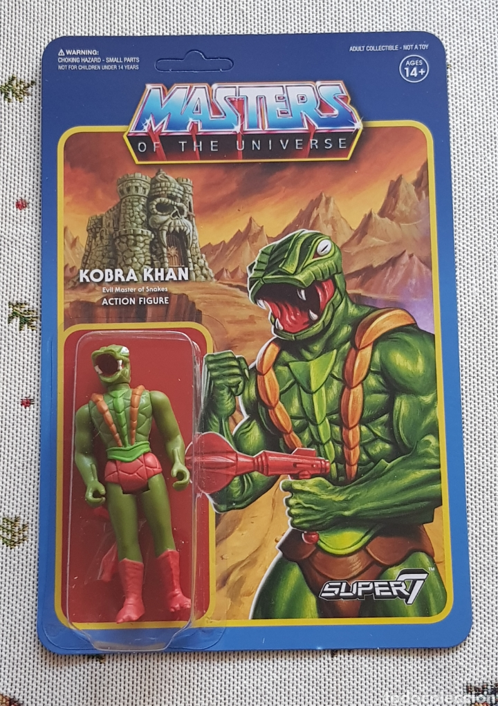 Figuras Masters del Universo: KOBRA KHAN REACTION WAVE3 SUPER7 NEW MASTERS DEL UNIVERSO HE-MAN MOTU - Foto 1 - 149479938
