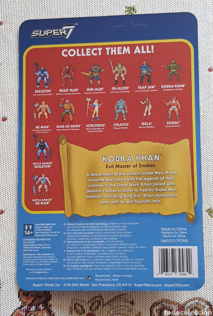 Figuras Masters del Universo: KOBRA KHAN REACTION WAVE3 SUPER7 NEW MASTERS DEL UNIVERSO HE-MAN MOTU - Foto 2 - 149479938
