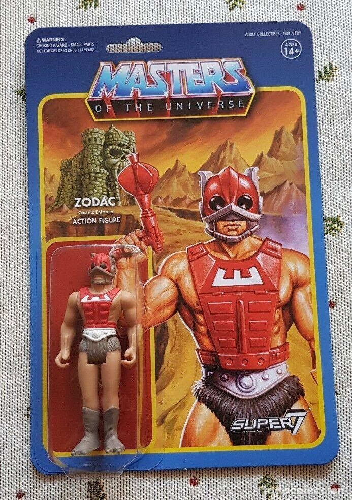 ZODAC REACTION WAVE3 SUPER7 NEW MASTERS UNIVERSO HE-MAN MOTU. (Juguetes - Figuras de Acción - Master del Universo)