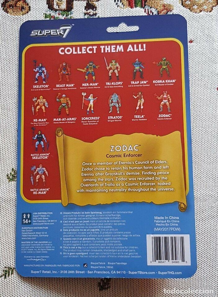 Figuras Masters del Universo: ZODAC REACTION WAVE3 SUPER7 NEW MASTERS UNIVERSO HE-MAN MOTU. - Foto 2 - 149570922
