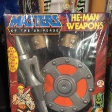 Figuras Masters del Universo: ARMAS PARA DISFRAZ MASTERS DEL UNIVERSO HE-MAN NUEVO SIN ABRIR HG. Lote 151303402