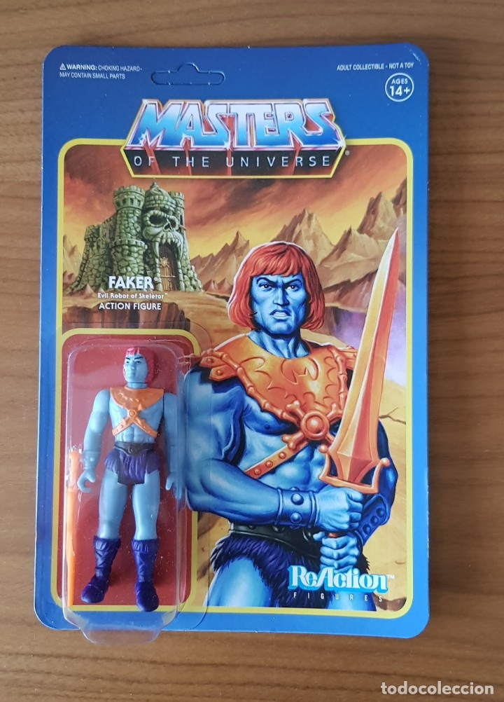 FAKER BLISTER REACTION WAVE 4 SUPER7 MASTERS UNIVERSO HE-MAN MOTU NUEVO NEW (Juguetes - Figuras de Acción - Master del Universo)