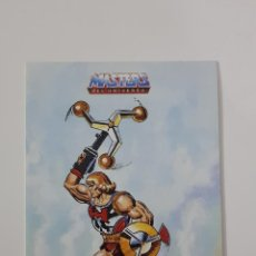 Figuras Masters del Universo: MASTERS DEL UNIVERSO - PEGATINA PROMOCIONAL HE-MAN PUÑO BOLEADOR DE 1988 DE MATTEL. Lote 158954722