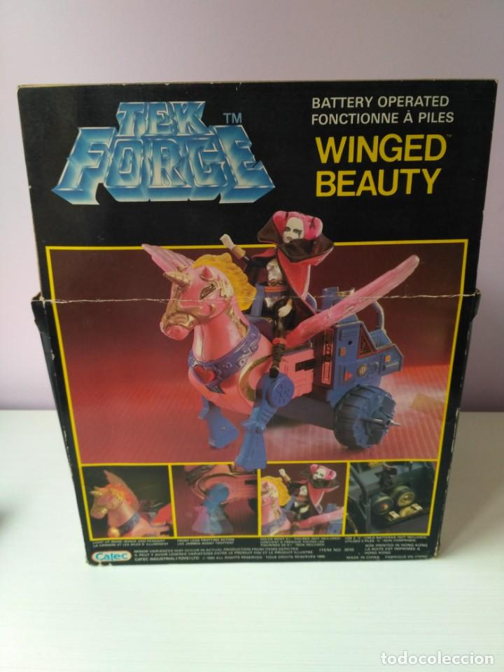 Figuras Masters del Universo: caja winged beauty tek force nuevo a estrenar vintage epoca masters del universo heman - Foto 6 - 159444874
