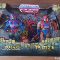 Figuras Masters del Universo: ROTAR & TWISTOID PACK MOTUC MASTERS DEL UNIVERSO HE-MAN NUEVO. Lote 193248308