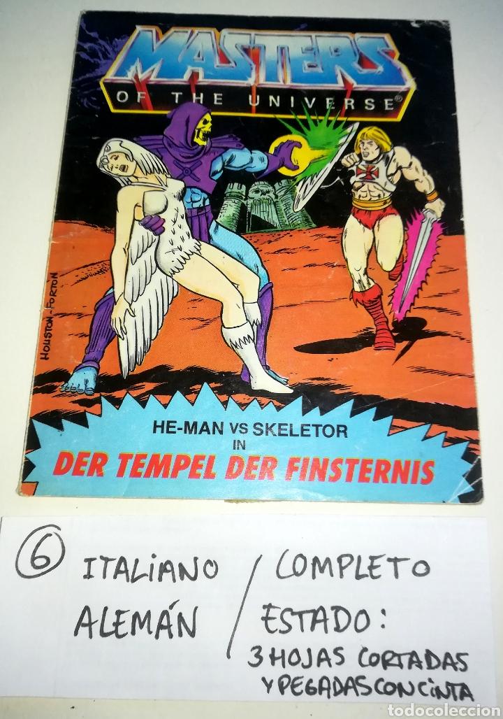 MINI COMIC MASTERS UNIVERSO MOTU MINICOMIC LIBRETO HE-MAN SKELETOR 6 (Juguetes - Figuras de Acción - Master del Universo)