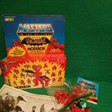 Figuras Masters del Universo: MODULOK SOLO LA CAJA ABIERTA EL COMIC Y LAS INSTRUCCIONES. Lote 169610064
