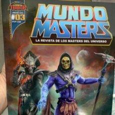 Figuras Masters del Universo: REVISTA MUNDO MASTERS 3 MASTERS DEL UNIVERSO HE-MAN SKELETOR. Lote 171474503