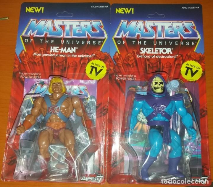 HE-MAN Y SKELETOR SUPER 7 MASTERS OF THE UNIVERSE MOTU VINTAGE CLASSIC NUEVOS HEMAN (Juguetes - Figuras de Acción - Master del Universo)